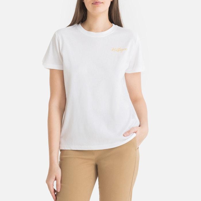 a7b29182a T-shirt em algodão bio branco Tommy Hilfiger | La Redoute