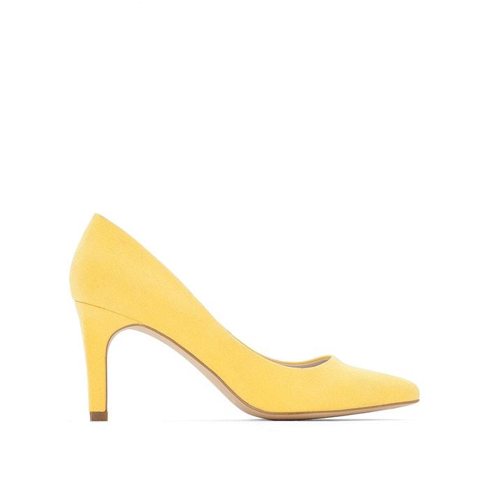 Escarpins colorés talon haut jaune citron