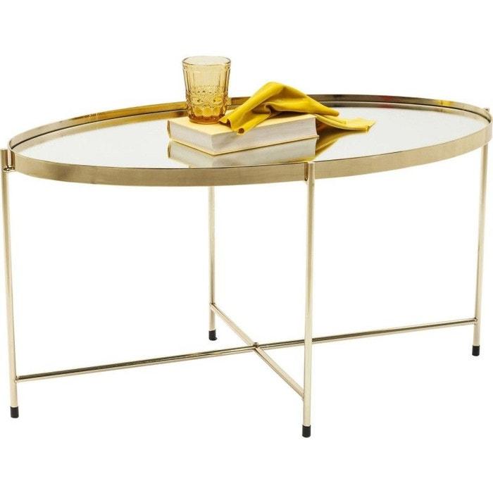 Table basse Miami ovale laiton 83x40cm Kare Design  KARE DESIGN image 0