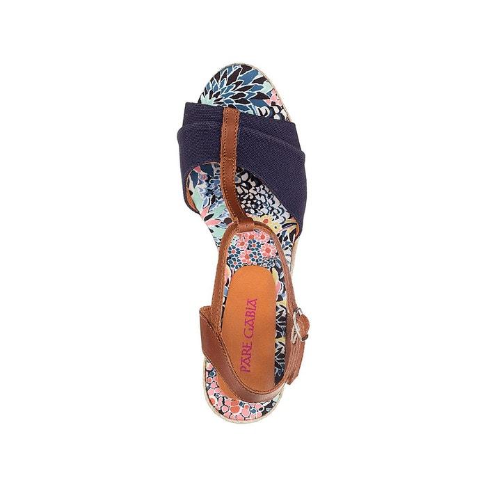 Sandales talon compensé mirage Pare Gabia
