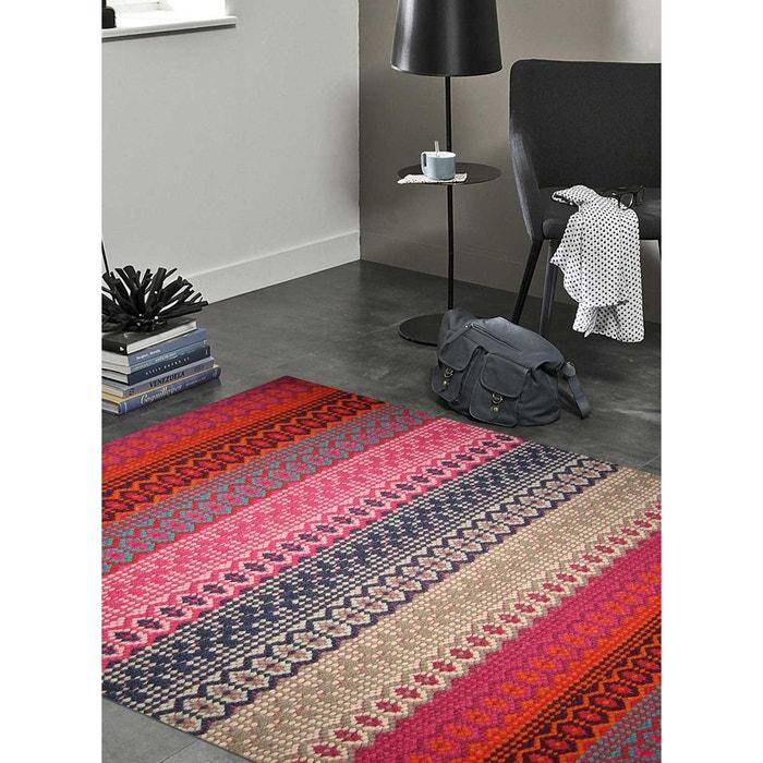 Tapis De Salon Moderne Design Ida Mixed Coton Multicolore Un Amour