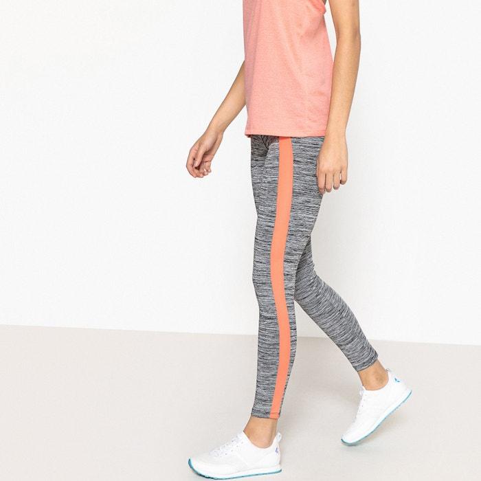 lateral el en La con banda largos Collections Redoute gris Leggings color ASZqOw