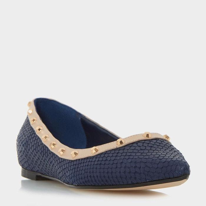 Chaussures plates cloutées à bout pointu - bambina  bleu marine reptile effect leather Dune London  La Redoute