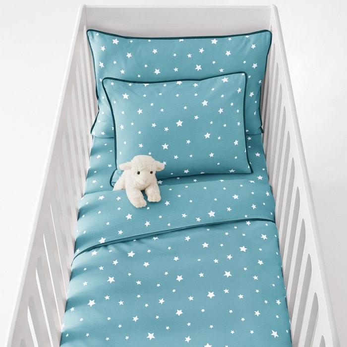 Housse de couette bébé coton, étoiles La