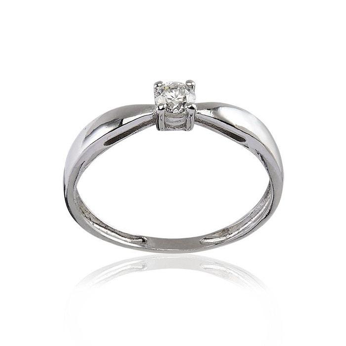 Bague en or 375/1000 blanc et diamant blanc Cleor | La Redoute Vente Images Footlocker Officiel Du Jeu Livraison Gratuite Parfaite KF2VmxT