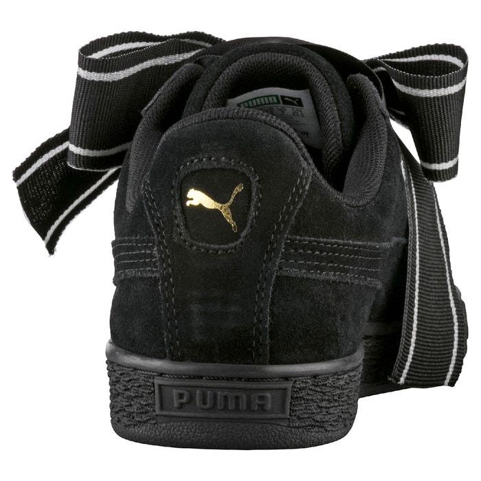 Baskets wns suede heart satin noir Puma