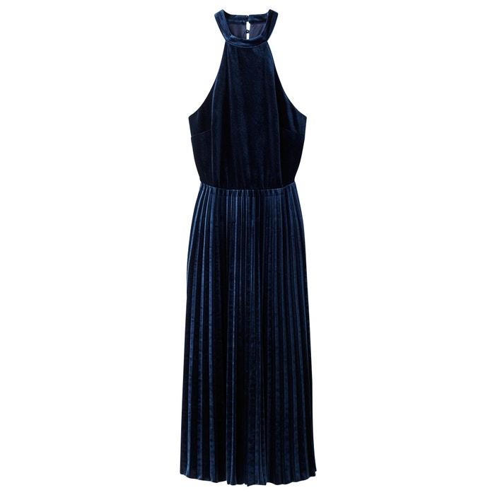 Vestido bajo evas Redoute Collections de La terciopelo plisado 233; pw6Rnq
