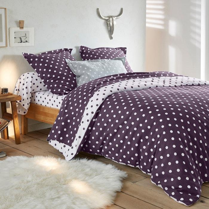 CLARISSE Polka Dot Cotton Flannel Duvet Cover  La Redoute Interieurs image 0