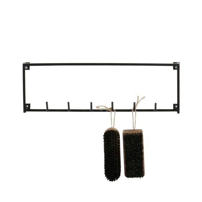 porte manteau industriel 6 crochets m tal meert noir woood la redoute. Black Bedroom Furniture Sets. Home Design Ideas