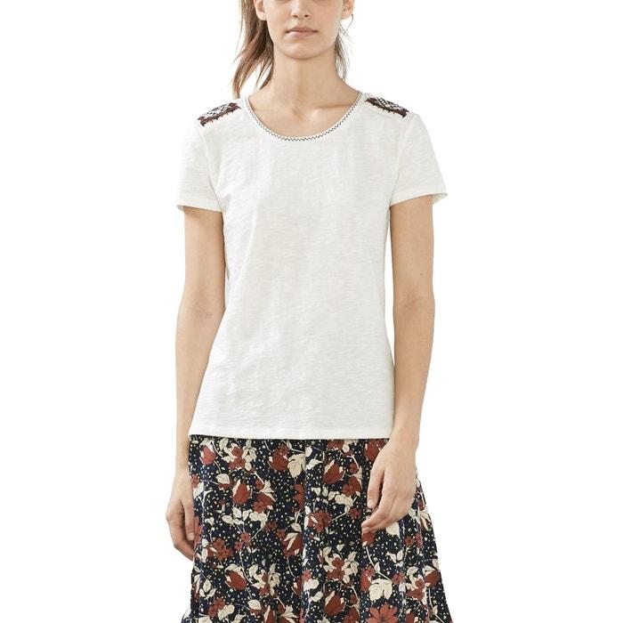Camiseta lisa, cuello redondo  ESPRIT image 0