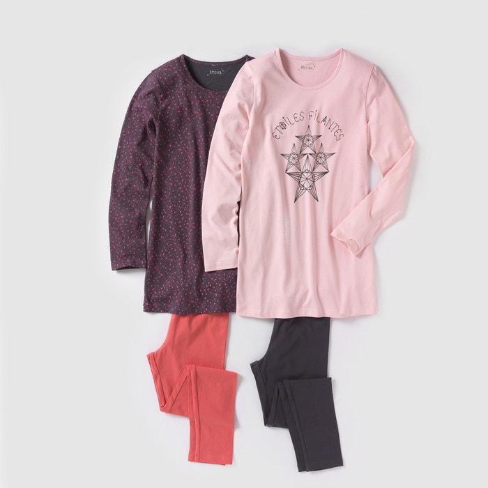 Imagen de Pijama con camisón y leggings 10-16 años (lote de 2) R édition