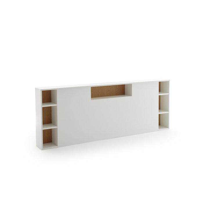 3803fb22760 Cabecero de cama xl con organización biface blanco La Redoute Interieurs
