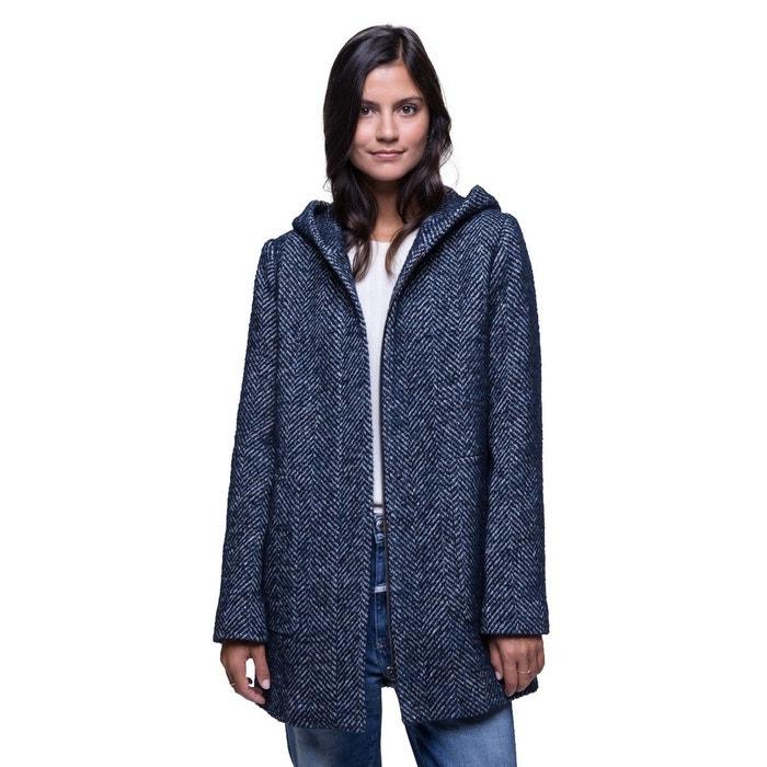 capuche Manteau laine bouclée en AND COAT TRENCH à ECoexBQrdW