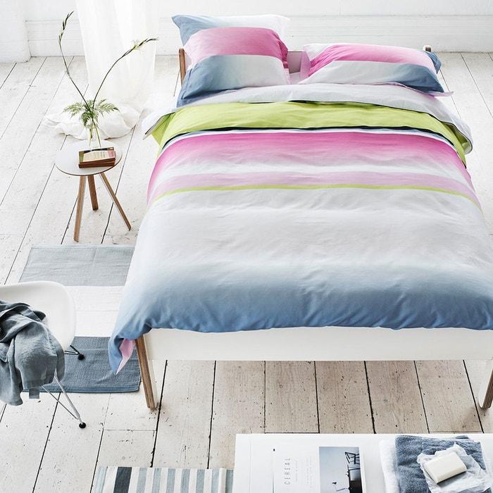 taie d 39 oreiller satin de coton panneau fuchsia fuchsia designers guild la redoute. Black Bedroom Furniture Sets. Home Design Ideas
