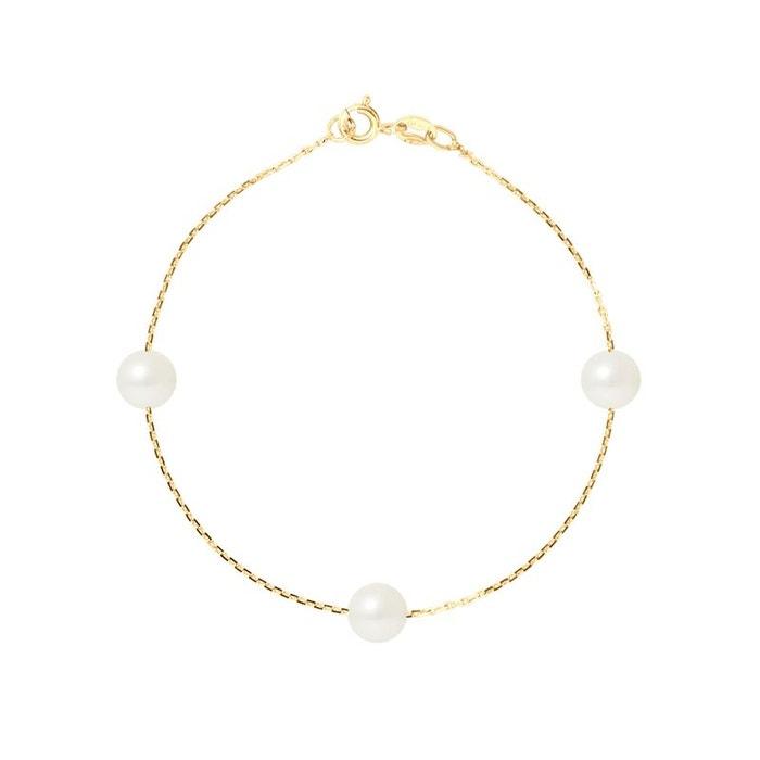 Bracelet trio de véritables perles de culture d'eau douce rondes 7 Livraison Gratuite Pré Commande Paiement De Visa Pas Cher Payer Pas Cher Avec Paypal jqiItVH7