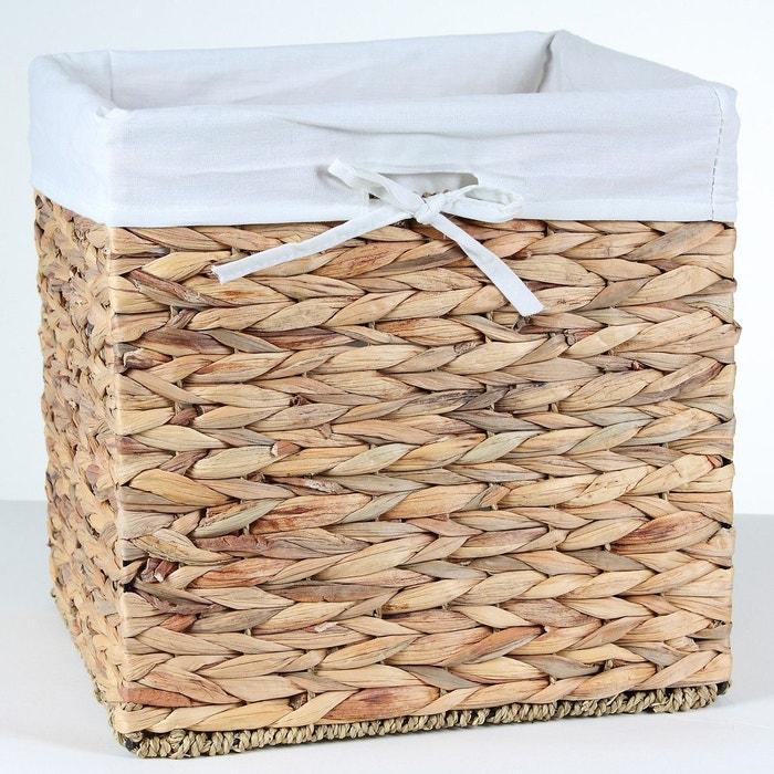 cube de rangement en jacinthe d 39 eau bois clair casame la. Black Bedroom Furniture Sets. Home Design Ideas