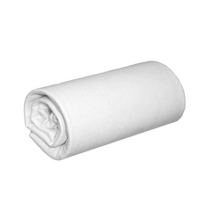 drap housse blanc jersey coton tencel blanc terre de nuit la redoute. Black Bedroom Furniture Sets. Home Design Ideas
