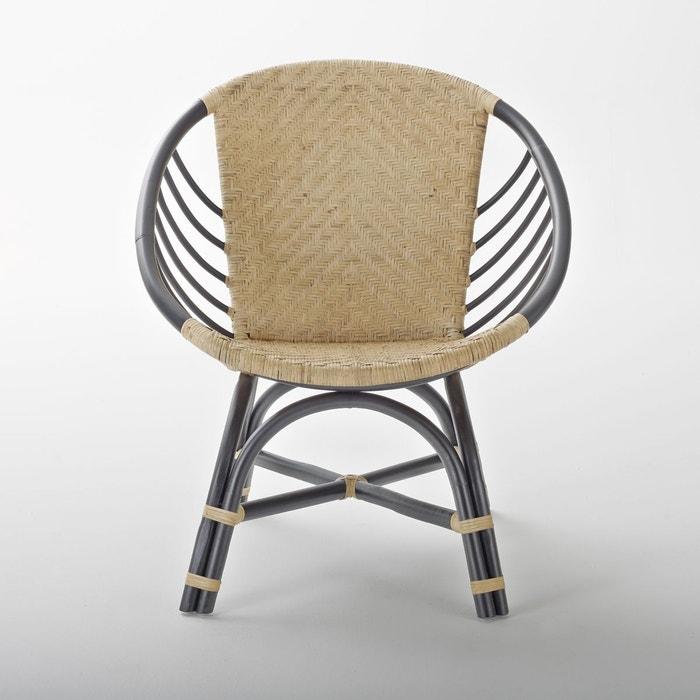 fauteuil rotin nihové naturel/noir la redoute interieurs | la redoute