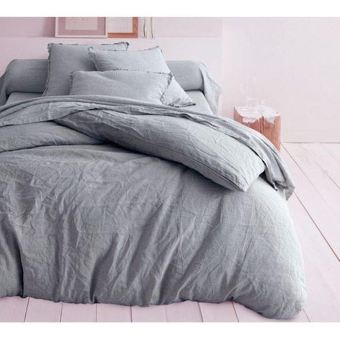 drap housse lin gris monteleone le linge la redoute. Black Bedroom Furniture Sets. Home Design Ideas