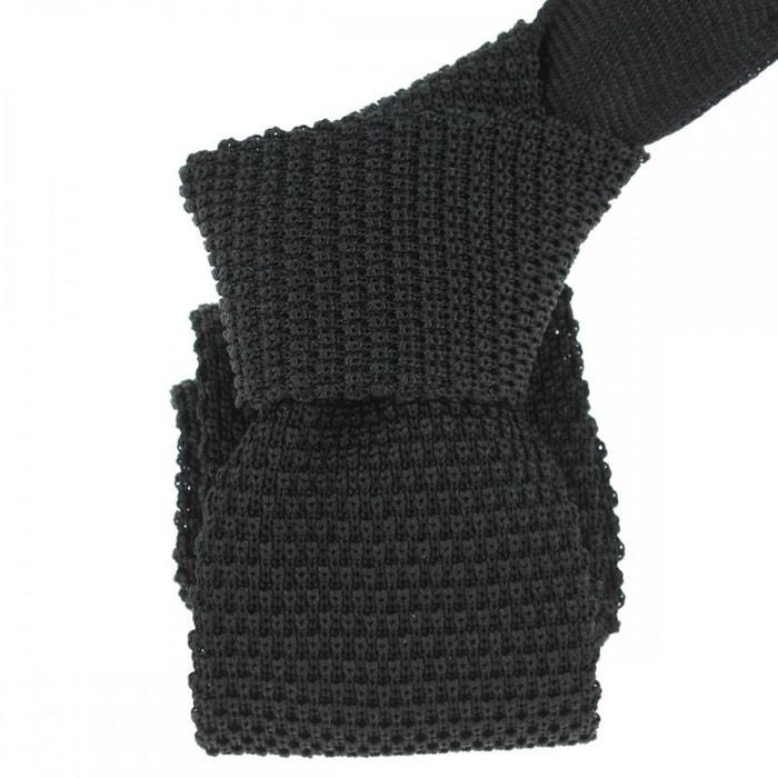 Cravate tricot nero, soie, tony & paul noir Tony Et Paul | La Redoute