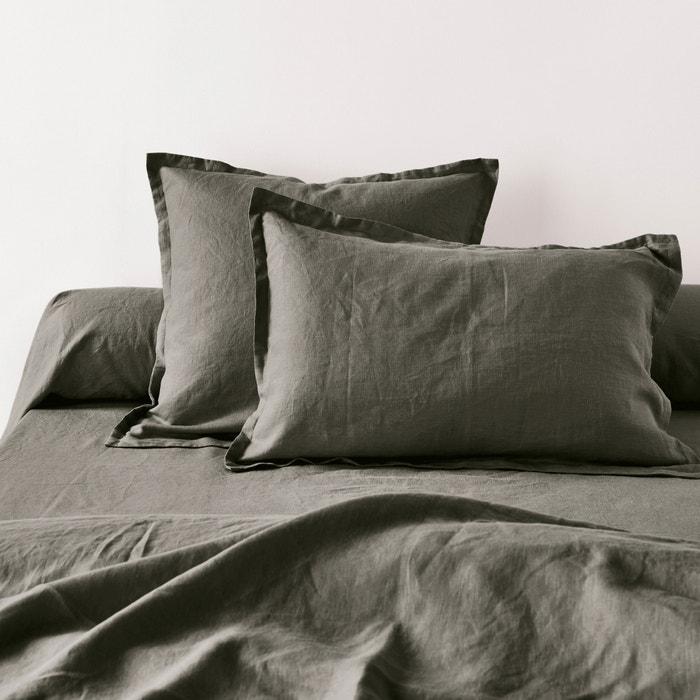 Image Taies d'oreiller unies en pur lin lavé La Redoute Interieurs