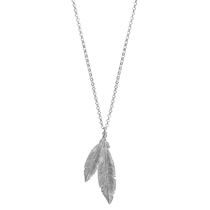 Collier longueur réglable: 42 à 47 cm 2 plumes argent 925 couleur unique So Chic Bijoux | La Redoute Vente Nouvelle Vente Chaude Rabais Ff5JS