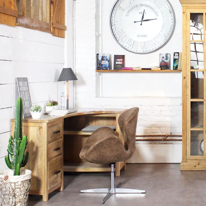 bureau bois massif en angle bt282 bois made in meubles la redoute. Black Bedroom Furniture Sets. Home Design Ideas