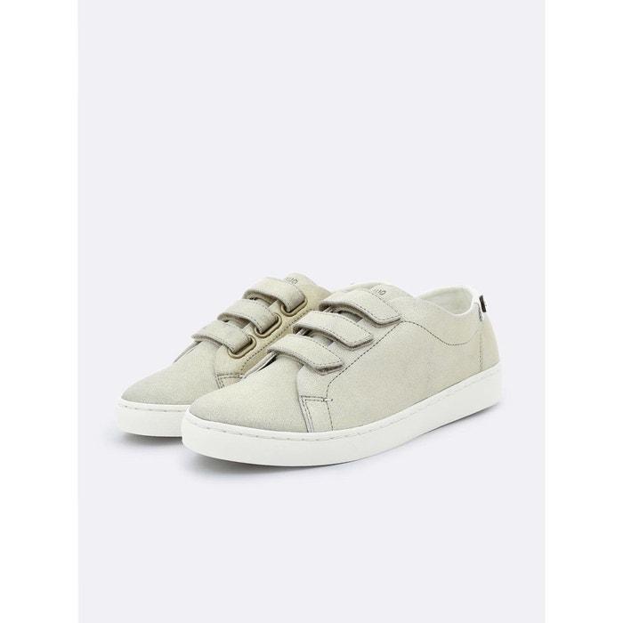 Basket aspenlows cuir beige clair Faguo