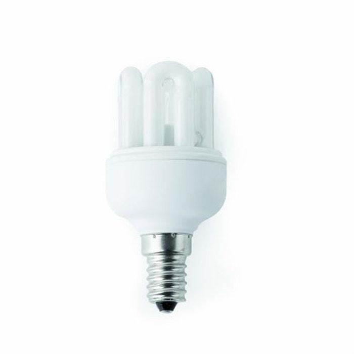 ampoule fluocompacte 15w e14 mini 6u t2 faro 16594 blanc faro la redoute. Black Bedroom Furniture Sets. Home Design Ideas