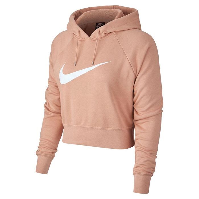 e9791b6260 Sweat à capuche logo poitrine rose Nike | La Redoute