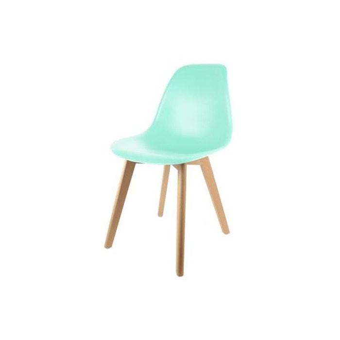 chaise enfant scandinave verte baby fjord vert declikdeco la redoute. Black Bedroom Furniture Sets. Home Design Ideas