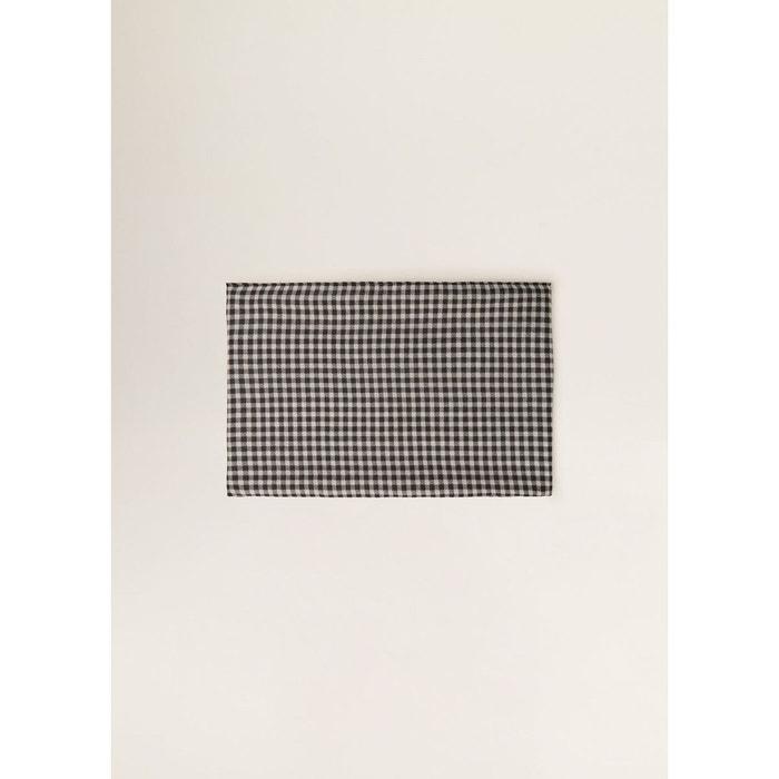 Foulard carreaux noir Mango   La Redoute 6233e1dbec0b