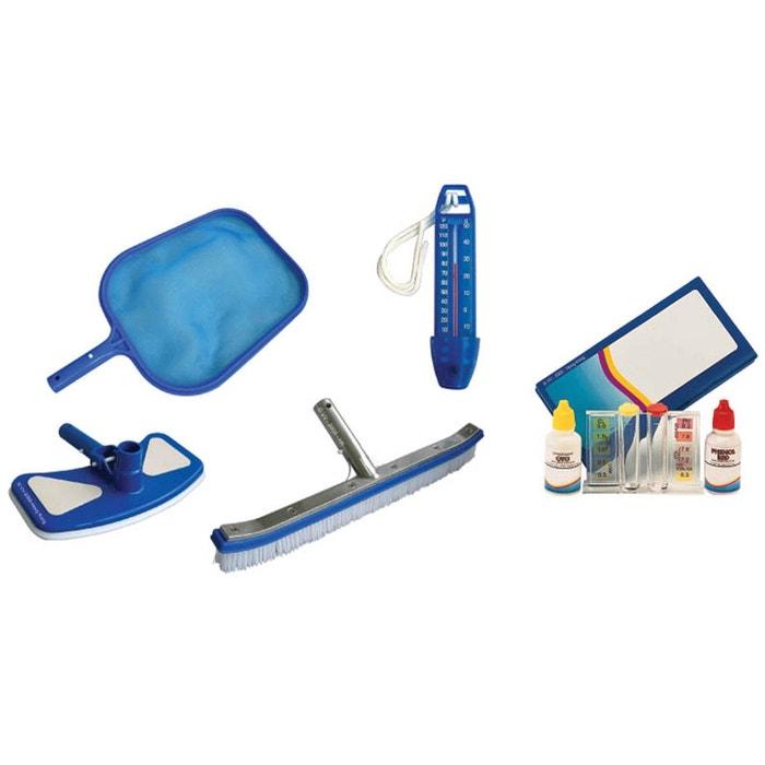 Kit d 39 entretien pour piscine kokido couleur unique for Kit entretien piscine