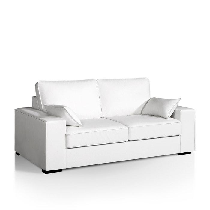 Image Canapé-lit Cécilia, couchage express, aspect cuir La Redoute Interieurs