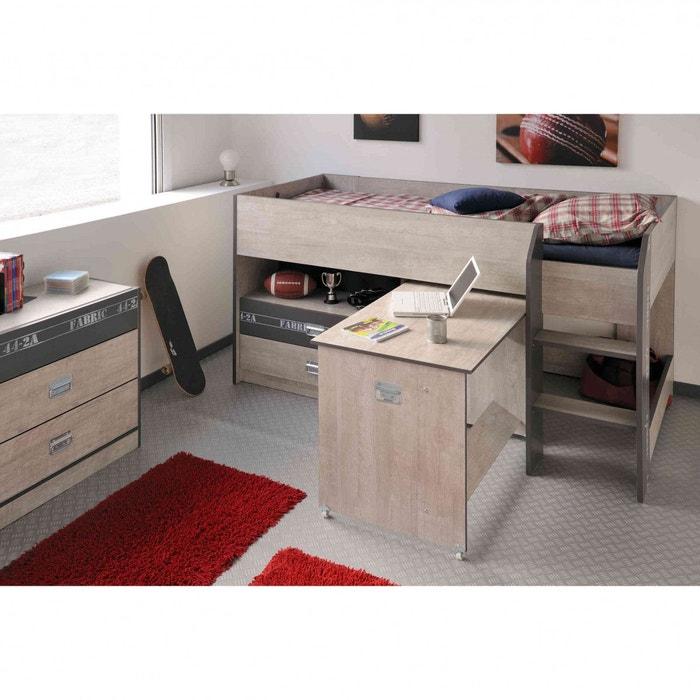 chambre enfant avec lit combin et commode en bois cb1026 2 terre de - Lit Combine Enfant
