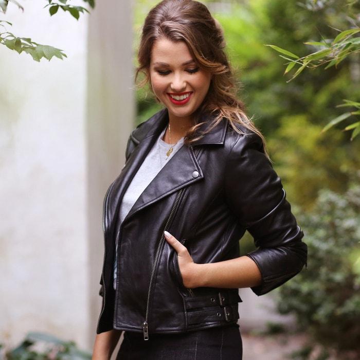 фото Блузон кожаный на молнии ENJOYPHOENIX POUR LA REDOUTE