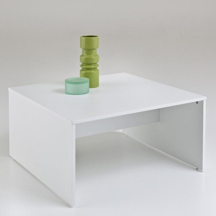 Lage vierkante tafel everett wit la redoute interieurs la redoute - Decoratie tafel basse ...