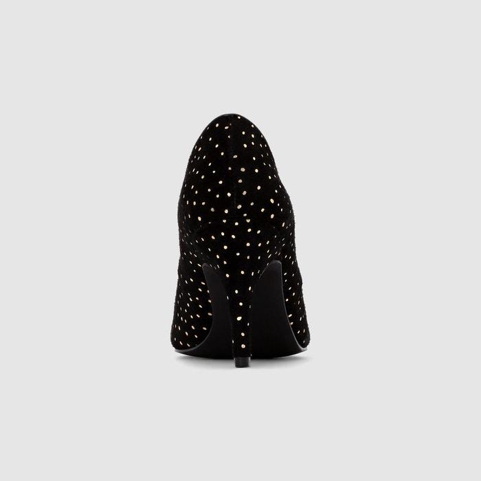 Escarpins mademoiselle r imprimé étoiles fond noir Mademoiselle R