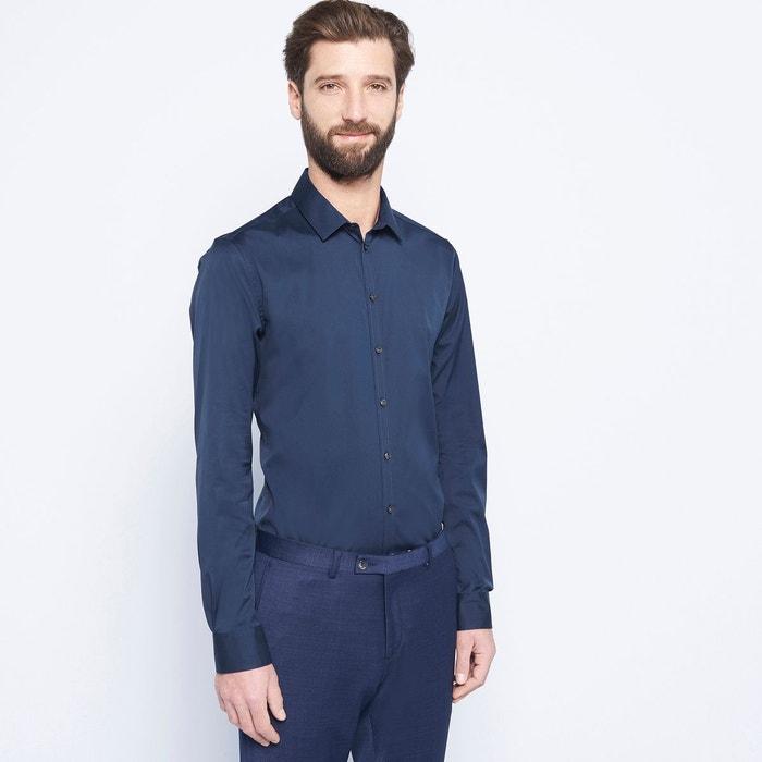 chemise homme ville unie bleu nuit devred la redoute. Black Bedroom Furniture Sets. Home Design Ideas