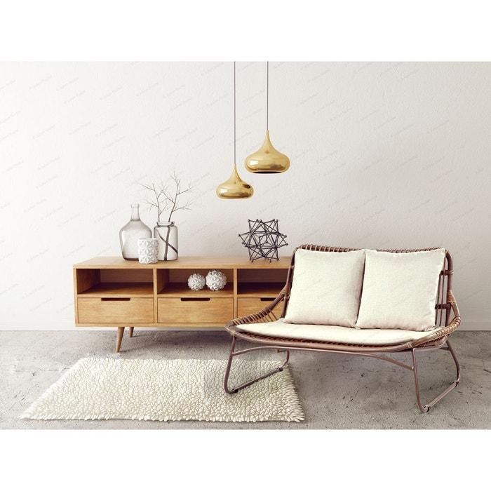 canap rotin et acier tiwat kha home design la redoute. Black Bedroom Furniture Sets. Home Design Ideas