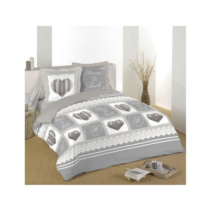 parure de lit romantique maison de famille gris home maison la redoute. Black Bedroom Furniture Sets. Home Design Ideas