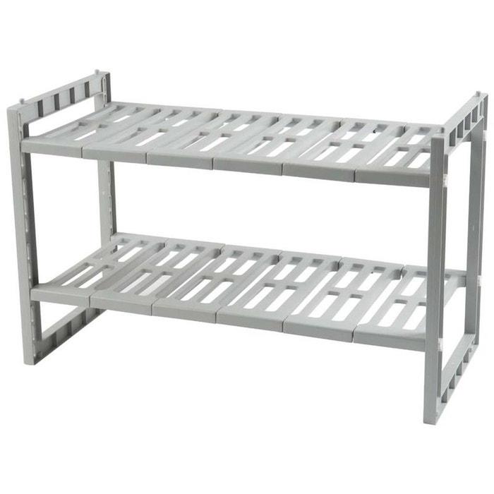 l 39 tag re extensible sous vier gris clair compactor la. Black Bedroom Furniture Sets. Home Design Ideas