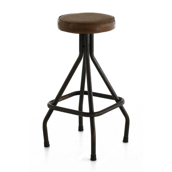 tabouret plan de travail montecristo marron zago la redoute. Black Bedroom Furniture Sets. Home Design Ideas