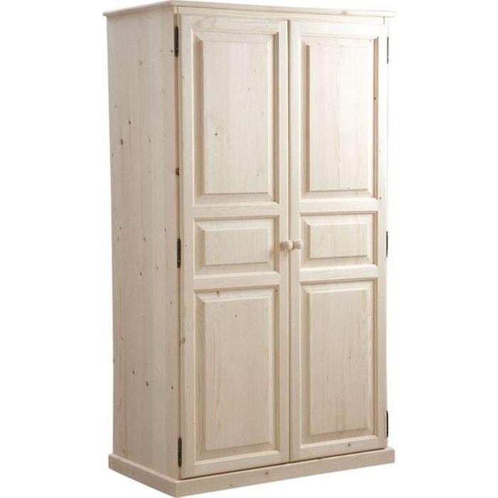armoire bois brut 2 portes naturel aubry gaspard la redoute. Black Bedroom Furniture Sets. Home Design Ideas