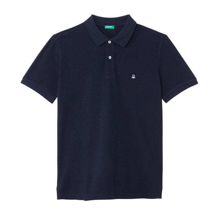 baae60b8d45 Embroidered logo piqué polo shirt Benetton | La Redoute