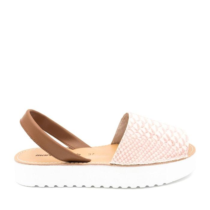Sandales en cuir rose Maria Barcelo Sortie Pas Cher Nouvelle Ligne Pas Cher AUgPe