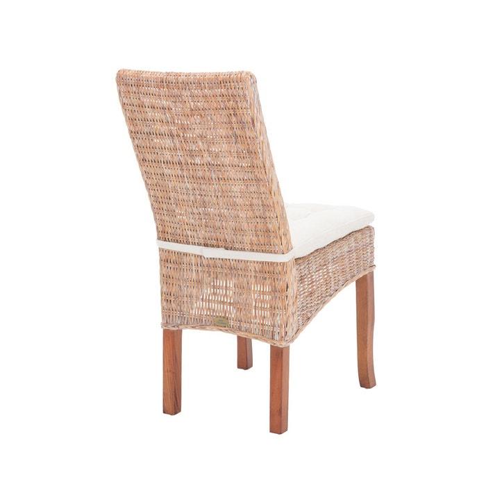 lot de 6 chaises en rotin vintage manon bois clair rotin. Black Bedroom Furniture Sets. Home Design Ideas