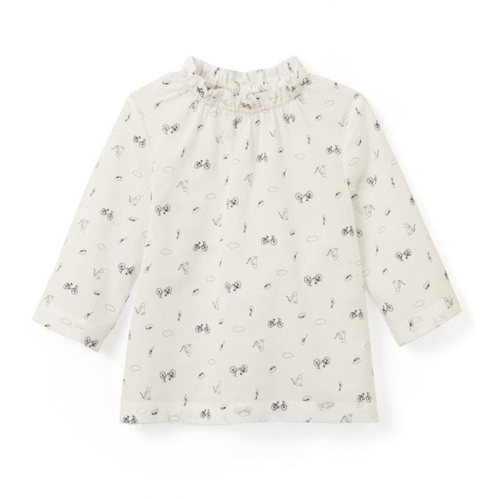 afbeelding Bedrukte blouse met 3/4 mouwen 3-12 jr La Redoute Collections