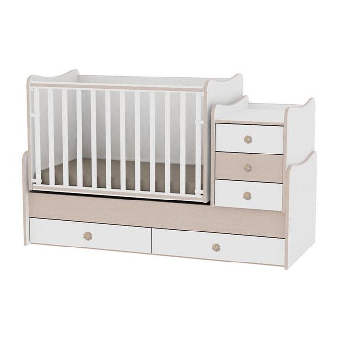 lit b b volutif combin 3en1 maxi plus lorelli chene. Black Bedroom Furniture Sets. Home Design Ideas