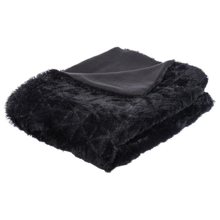 plaid fourrure 120 x 160 cm atmosphera la redoute. Black Bedroom Furniture Sets. Home Design Ideas